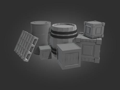 Barrels, Boxes and a Pallet preview image