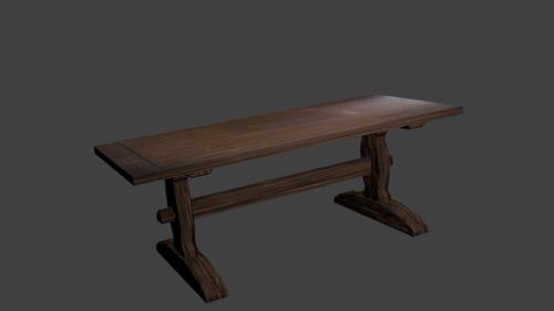 Simple wooden table preview image