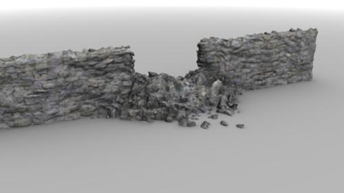 Broken stone wall preview image