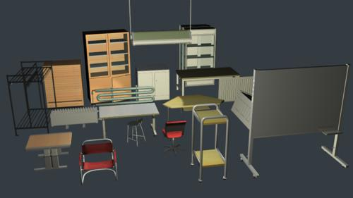 School furniture preview image