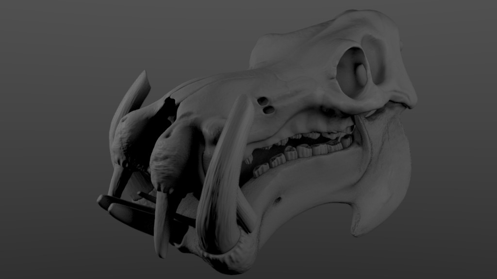 Hippo Skull sculpted preview image 1