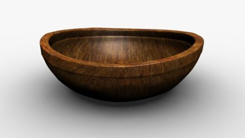 simple wooden bowl with nicks preview image