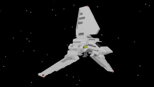 Brick sci-fi shuttle preview image