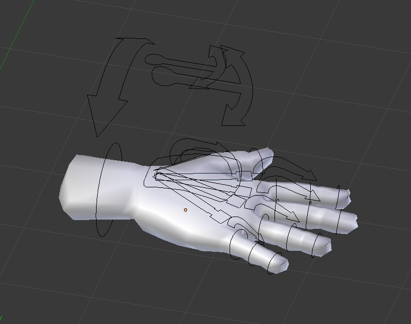Low Poly Hand  (Rigged) preview image 1