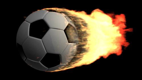 Burning Soccer Ball preview image