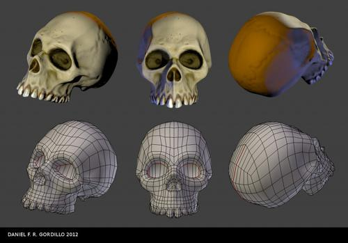 Low Poly Skull preview image