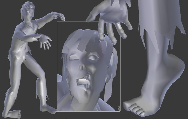Low Poly Zombie (rigged) preview image 1