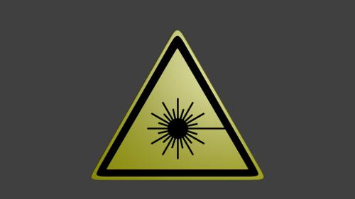 Laser warning sticker / sign (untextured) preview image