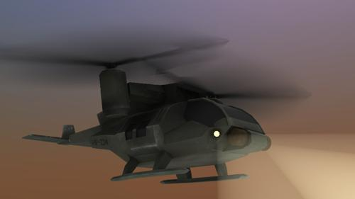 Low-Poly Helicopter preview image