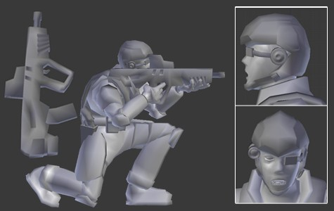 Low Poly Modern Soldier (rigged) preview image 1