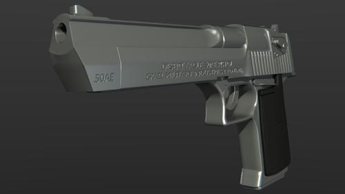 (high poly) Desert eagle 50 cal preview image