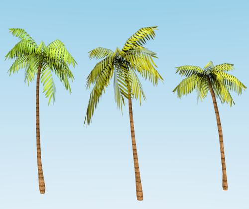 Low-poly Good Quality Palm trees preview image