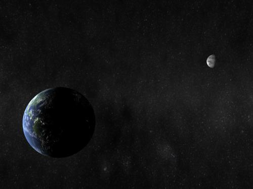 The Earth And Moon preview image