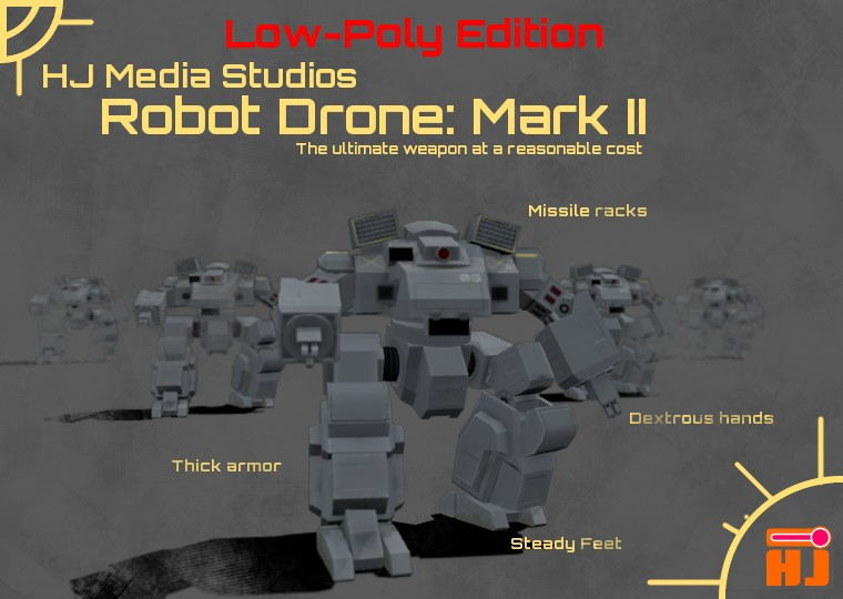 Robot Drone (Lowpoly Edition) preview image 1