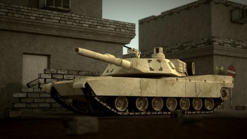 M1 Abrams (Rigged+Textured preview image