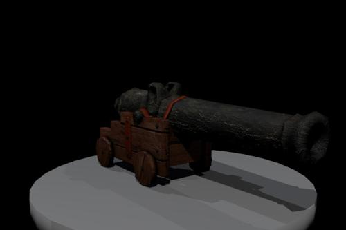 Low Poly Pirate Cannon preview image