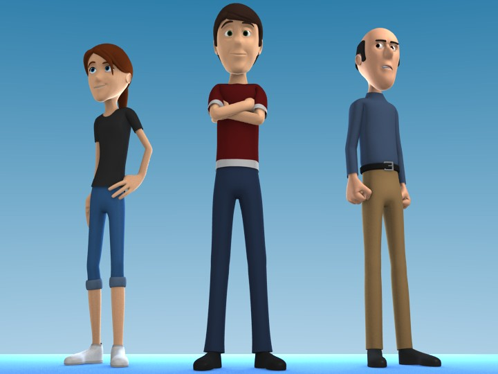Cartoon Character Pack 1 preview image 1