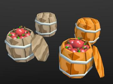 Barrel & Barrel With Apples preview image