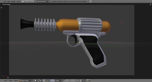 Old Fashion Ray Gun preview image