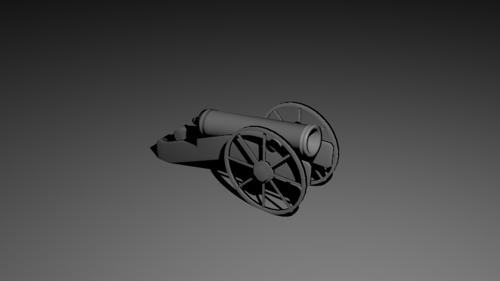 Lowpoly Medieval Cannon preview image