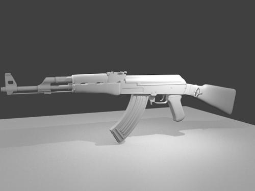 Ak-47 (Untextured) preview image