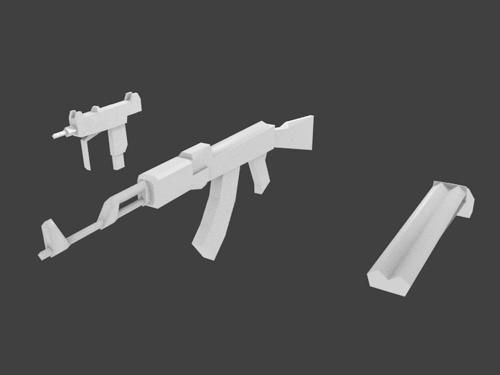 Low Poly Guns preview image