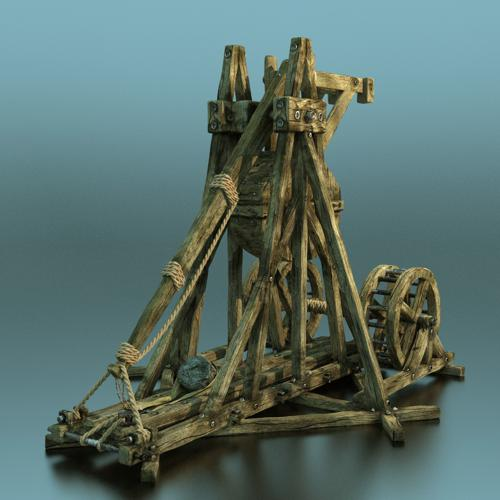 Trebuchet (Rigged+Textured) preview image