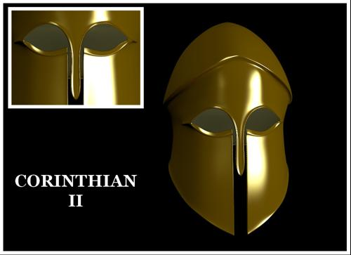 Golden Greek Corinthian Helmet II preview image