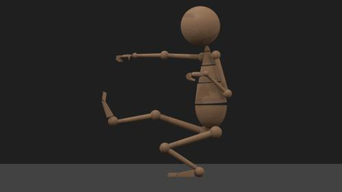 IK Rigged Wooden Character preview image