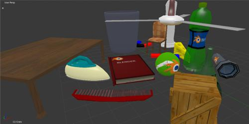 Misc Lowpoly Objects preview image