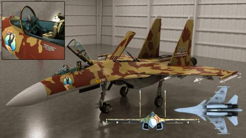 ESH-2501 Modern Fighter Jet preview image