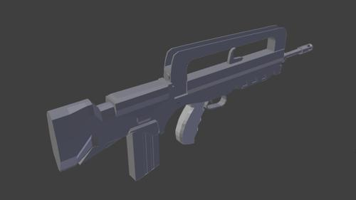 GIAT FAMAS Assault Rifle Model preview image