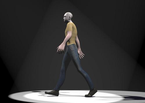 Rigged Man With Walk Cycle preview image