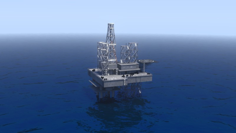 Oil Rig With Ocean preview image 1