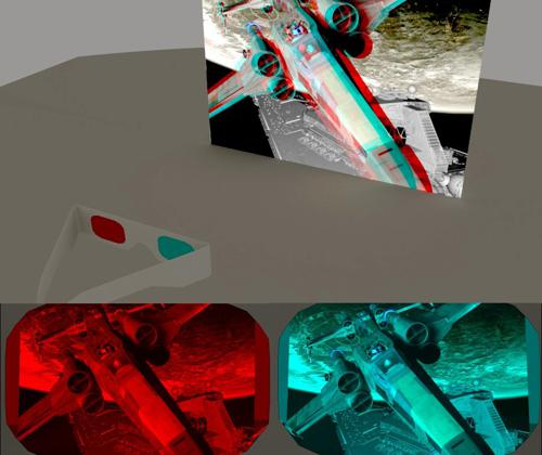 (really Working) 3D Anaglyph Glasses - Cycles preview image