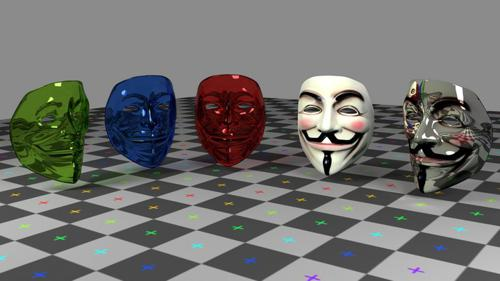 Guy Fawkes Mask On Cycles preview image