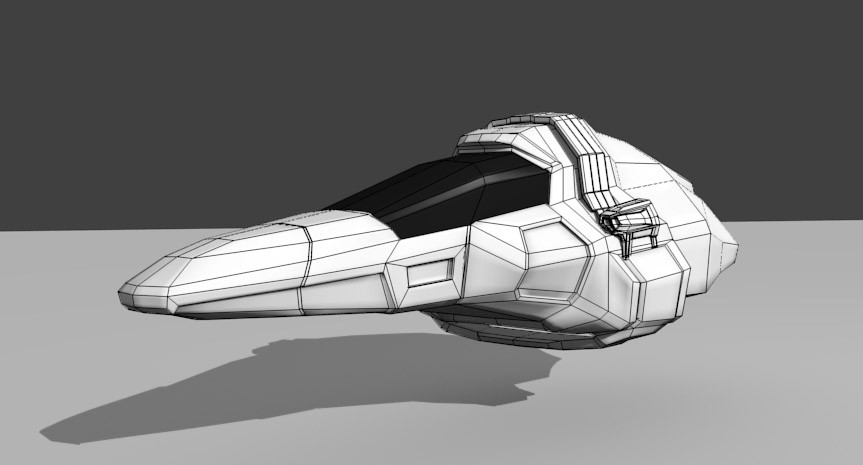 Small Spaceship (Low Poly) preview image 1