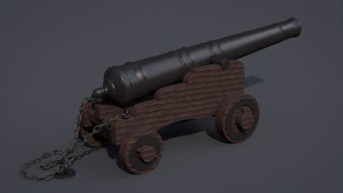 Old Naval Cannon preview image