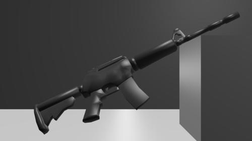 Low-Poly M-16 preview image