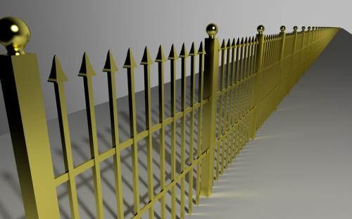 Ornamental Fence Array W /  Curve Mod preview image