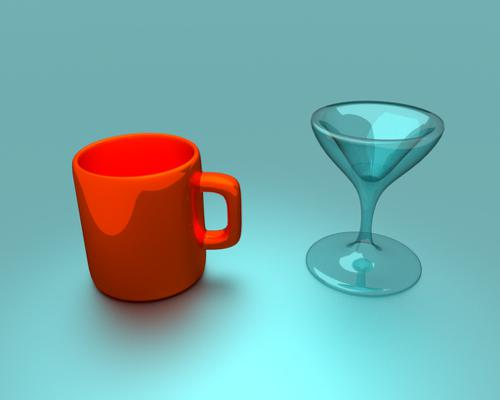 Drinking Glass And Cup [Cycles ]  preview image