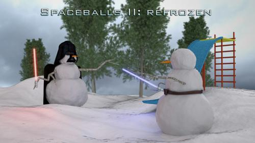 Snowy Spaceballs - Star Wars Snowmen preview image