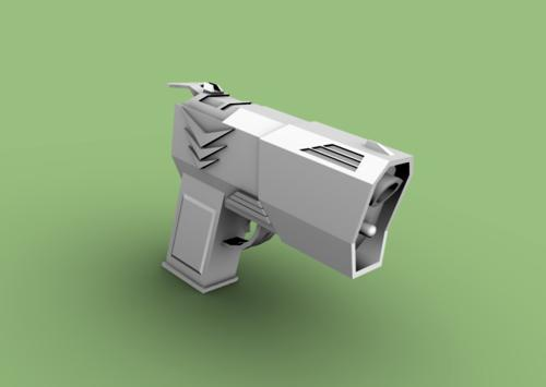 Low Poly Sci-Fi Pistol preview image