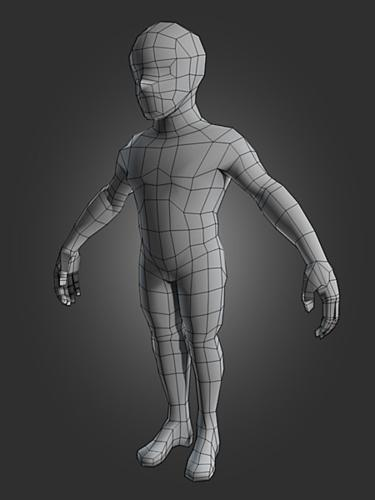 Low Poly Male Body preview image