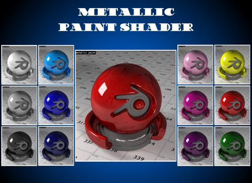 Metallic Paint Material for Cycles preview image