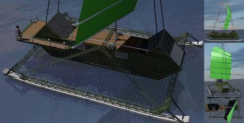 Post-Apocalyptic Shipping Container Sailboat V2 preview image