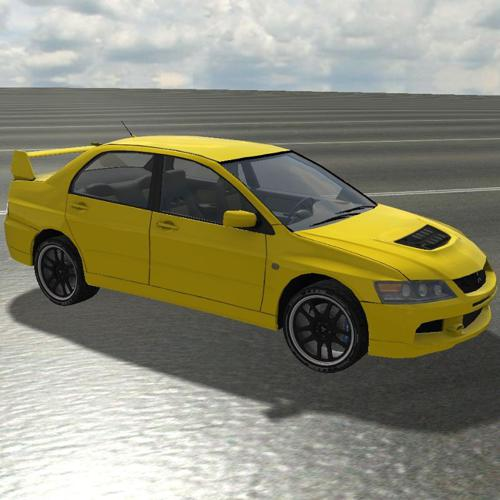 Lancer Evolution 9  Low-Poly preview image