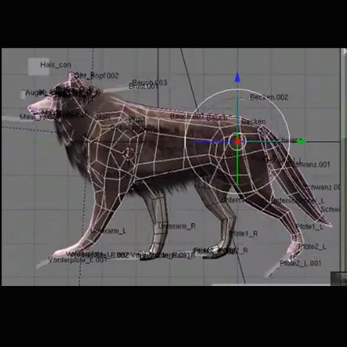 Wolf Rigged Animated and Game Ready preview image