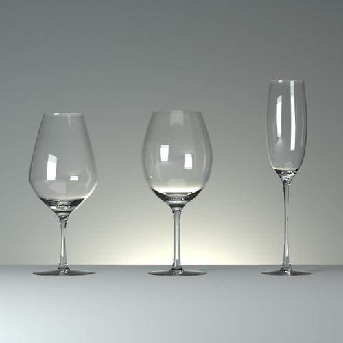 Three wineglasses with curves preview image