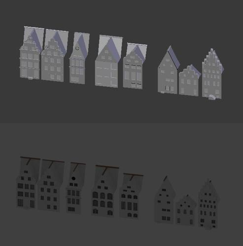 Medieval town facades preview image